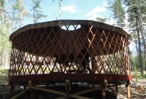 yurt frame up