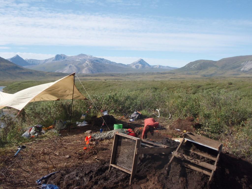 A prehistoric excavation in the Brooks Range